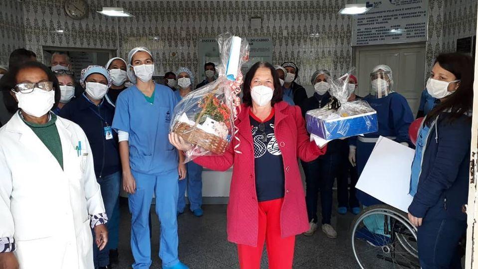 MAIS UMA VITÓRIA CONTRA A COVID-19 NO HOSPITAL DE BARROSO